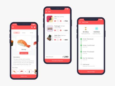 Sushi Ordering User Interface