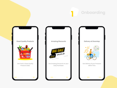 Groceee app - Onboarding Screens user inteface typography navigator design user experience iphonex iosapp ios userinterface user interface illustration dailyuichallenge dailyui uplabs ui onboard onboarding screens onboarding screen onboarding ui onboarding
