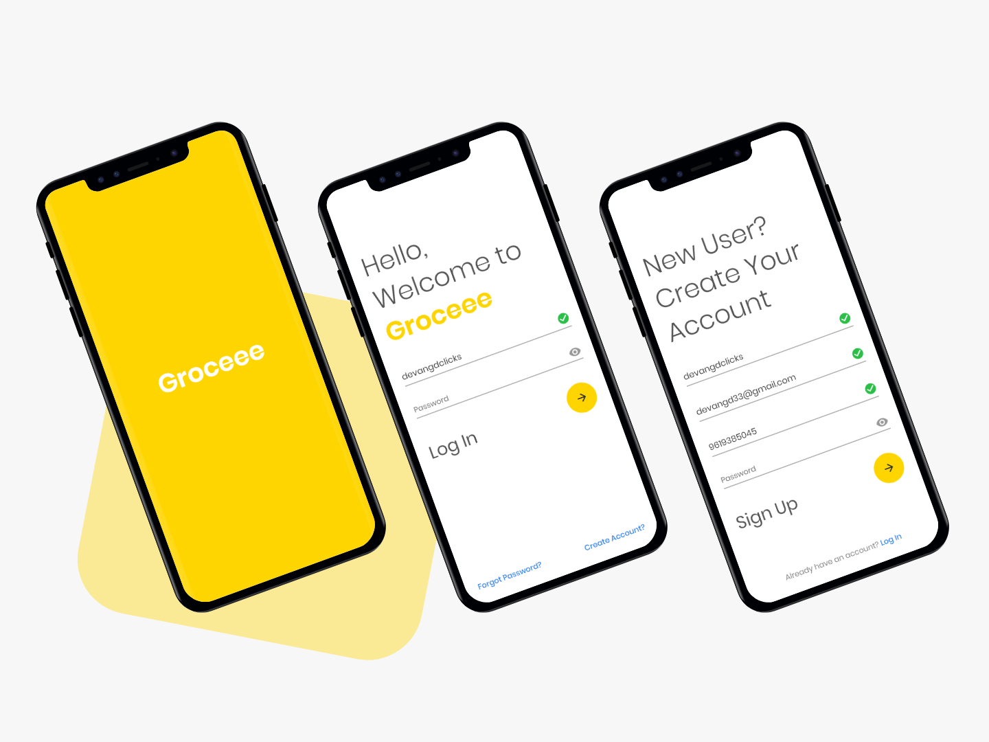 Groceee app - Getting Started grocery online grocery app grocery uidesign uiux best design login page signup form signup page signup screen signupform signup login screen login design login form login splash screen splash user inteface ui