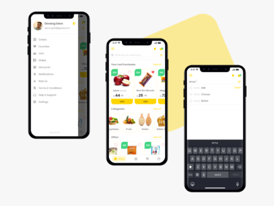 Groceee app - Home, Search Bar & Nav Bar uidesign product design home screen homepage products categories uichallenge challenge uplabs navigation bar search results search bar navbar groceee online shop online shopping grocery online grocery store grocery app ui
