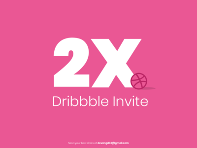 2x Dribbble Invite dribbble best shot branding vector logo illustration graphic graphic  design graphicdesign uidesigner get invite two invites 2x invites dribbbler invitation invitations invites invite dribbble invitation dribbble invites dribbble invite