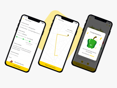 Groceee app - Track Order & Successful illustration grocery uidesign ux dribbble best shot user inteface ui growth ordering order details successful screen success message delivery service delivery status track order grocery shop online shop online shopping grocery app groceee
