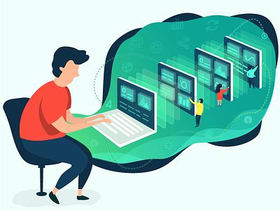 Open-Source Admin Dashboard admin dashboard java script admin template open-source illustration design graphic