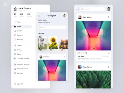 Instragram · Redesign concept