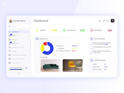 eCommerce · Dashboard Concept ux ui design modern minimal ui design ux design web design website ecommerce concept dashboard