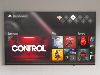 PS5 · Dashboard UI concept games gaming console ux design ui design ps5 playstation design ux ui concept dashboard app