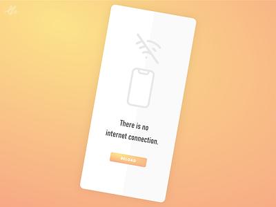 No internet connection · Screen concept phone mobile modern concept ux design ui design ios ui ux app design design reload screen connection no internet app