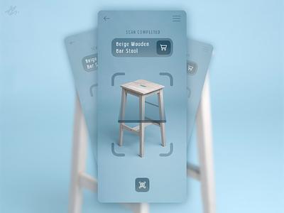Product scanner · UI concept ecommerce ar mobile phone scan app design design ux ui ios furniture product scanner concept app