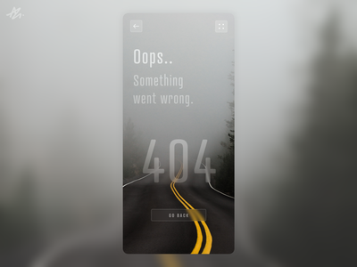 404 Not found · Screen concept fog street road ui ux design app design ui design ux design blur ios phone mobile screen concept not found 404 app