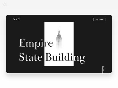 Empire State Building · Landing page black and white modern ui design ux design web design ui ux design website new york landing page empire state building concept app