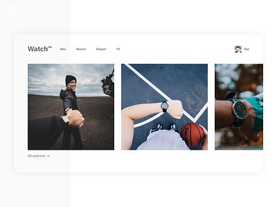Watch retailer · Web design design minimalist modern simple web design ui design ux design ui ux smart watch store shop ecommerce retailer watch website concept web