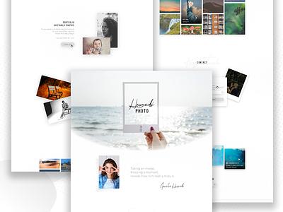 Photographer Landing page concept photograpy landing page web design