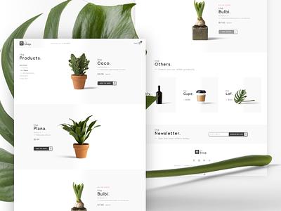 theShop. · Category page web design design category page web development ecommerce plants shop