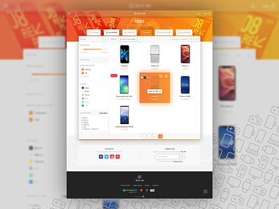 dollar.com · Category page layout web typography ux ui web development shop ecommerce design category page web design