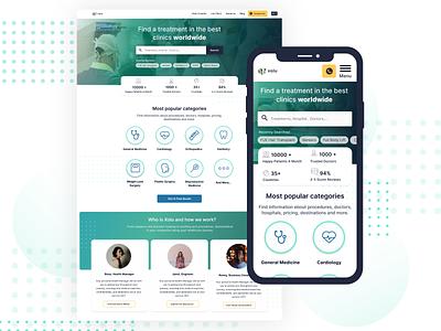 Website Concept for a Medical Turism Service ehealth ehealth ux hospital nursing home doctor healthcare health medical website design medicine medical