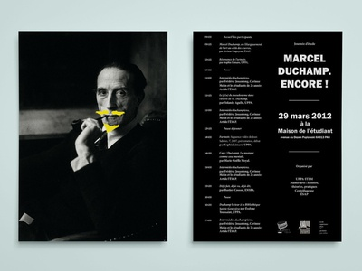 Flyer for Marcel Duchamp exhibition