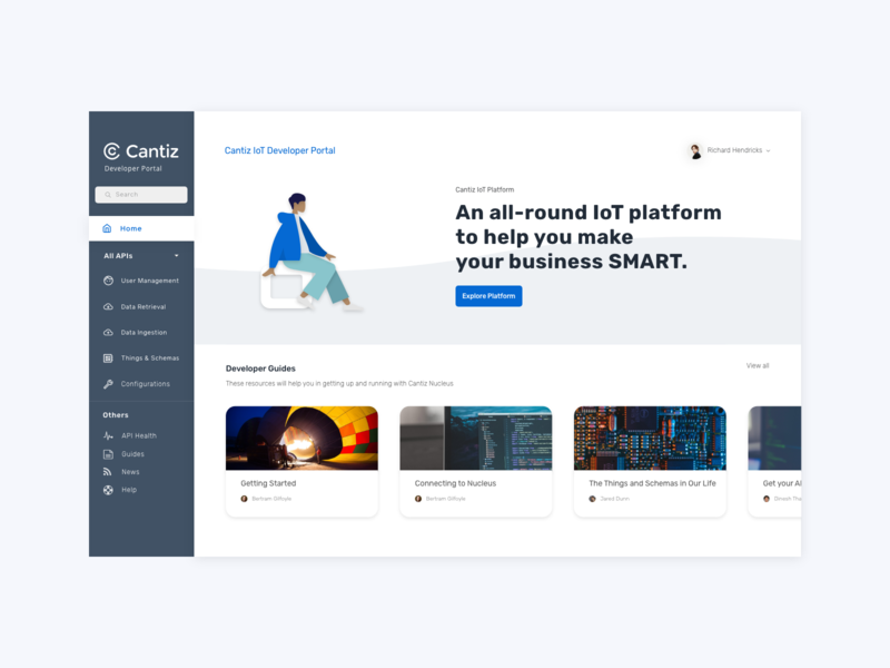 Revamped Developer Portal humaaans ui design adobexd developer developer portal landing page ux design