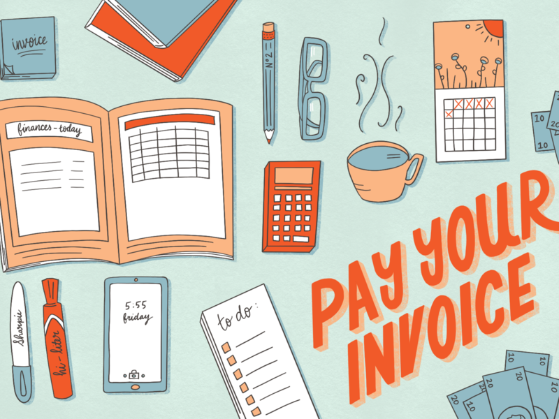 Pay Your Invoice illustration design