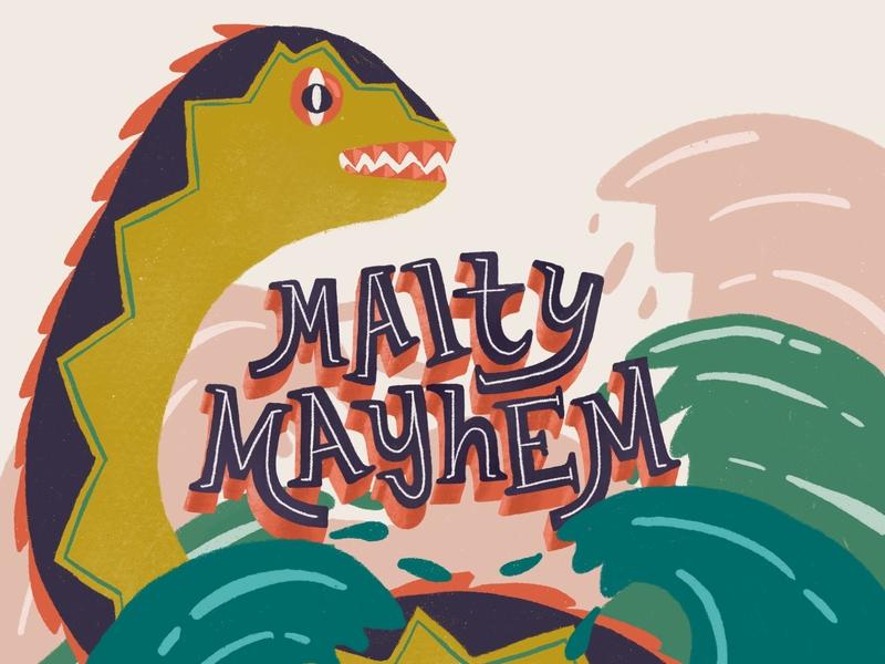 Mayhem label packaging logo illustration labeldesign design