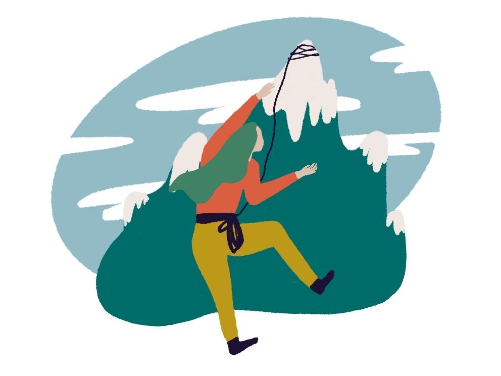 Climber labeldesign design editorial illustration illustration