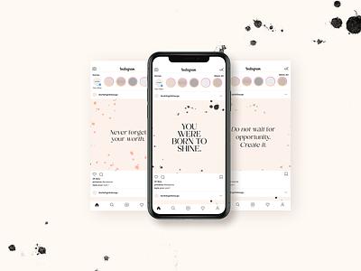 Ink Splatter Quotes canva photoshop illustration graphic design design typogaphy template social media