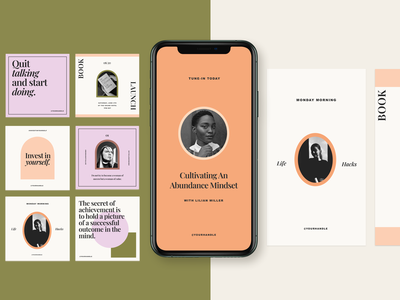 Modern Social Media Identity post stories instagram entrepreneur identity brand branding modern interactive design typography graphic design design template social media