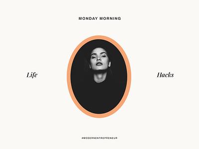 Life Hacks -- A design exploration template social media entrepreneur modern visual identity graphic design design identity branding brand design typography