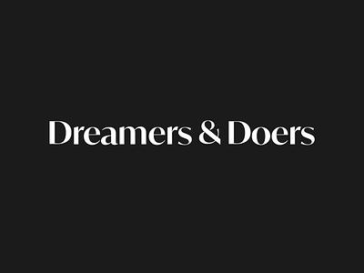 Wordmark for womxn's community, Dreamers & Doers agency doers dreamers identity design visual identity visual design wordmark womxn entrepreneur modern logo graphic design brand identity branding logo design logos logo
