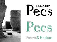 Pecs Brand - Futura + Bodoni