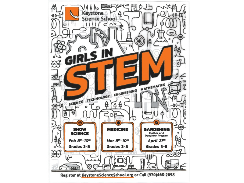 Girls in STEM Poster for Keystone Science School colorado math technology science stem poster