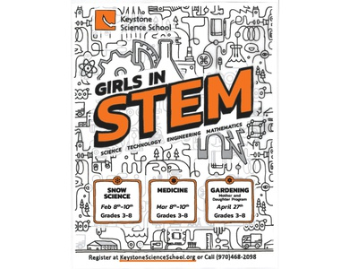 Girls in STEM Poster for Keystone Science School