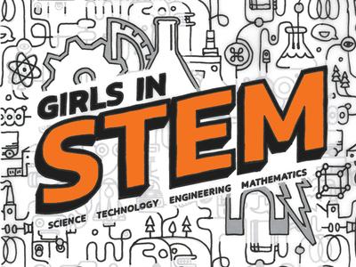 Girls in STEM Graphic for Keystone Science School