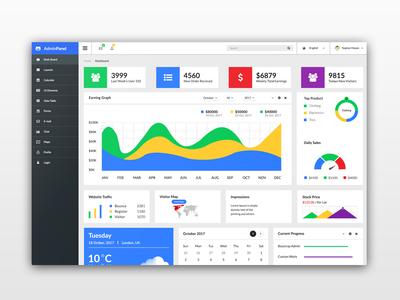 Dashboard UI web ux useful ui sketch interface dashboard customizable colorful clean app admin