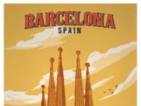 Vintage barcelona poster smaller