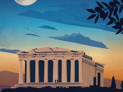 Vintage Athens Poster