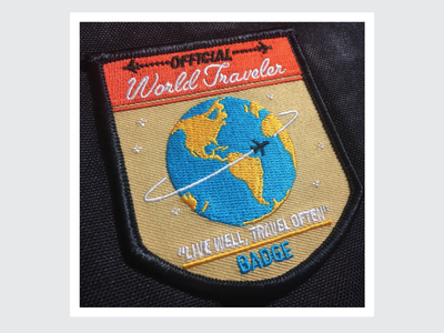 World Traveler Patch Printed