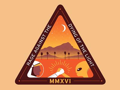 Coachella Shirt mountains cali california simple fun alien astronaut coachella music concert design illustration