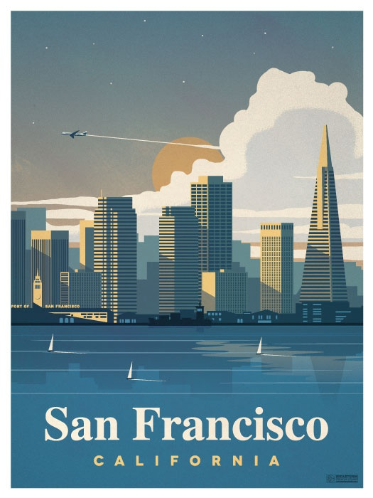 San francisco city print smaller