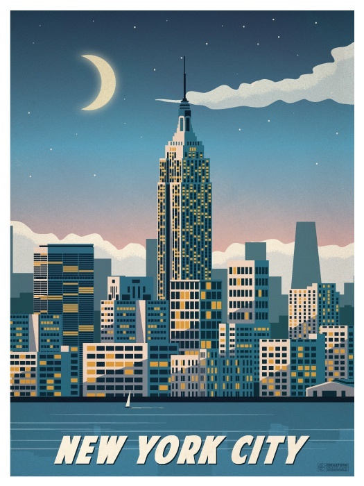 New york city empirestate poster print on smaller