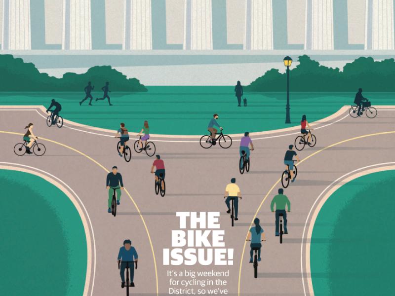 Washington Post Express lincoln memorial washington dc washington post bike week bikes editorial design illustration