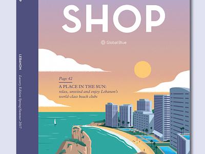 Shop Magazine Lebanon Cover beirut lebanon shop magazine editorial design illustration