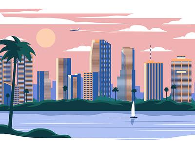 Eventbrite Miami City Browser Page eventbrite product design editorial design illustration