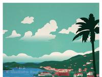 St thomas waterfront poster print final shop smallerwm