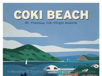 Coki beach poster print smaller wm