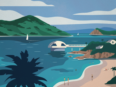 Virgin Islands Poster Series Pt 2 landscape travel vector art design poster illustration