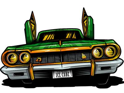 Ice Cube Project - Car element Illustration