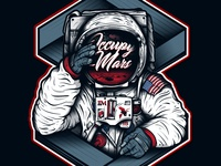 Occupy Mars - StarMan on Mars Illustration