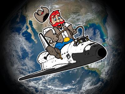 Space City Cowboy illustration