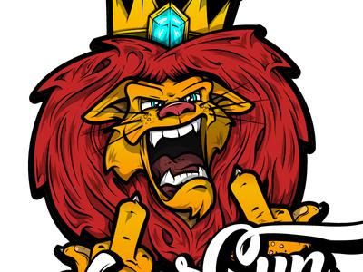 King leo Dont Care Illustration