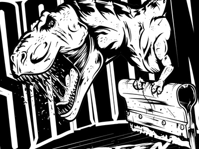 Screen Printing Dino